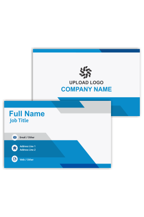 Attractive Blue Customized Bank Visiting Card