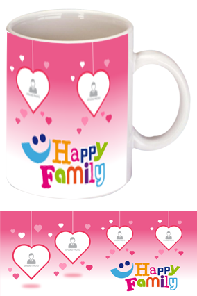 We are Happy Family Exclusive Bone China Mug