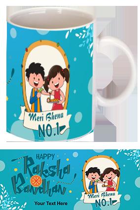 Cute Brother and Sister Personalized Raksha Bandhan Coffee Mug