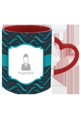 Awesome Personalized Designer Heart Handle Inside Maroon Redish Mug
