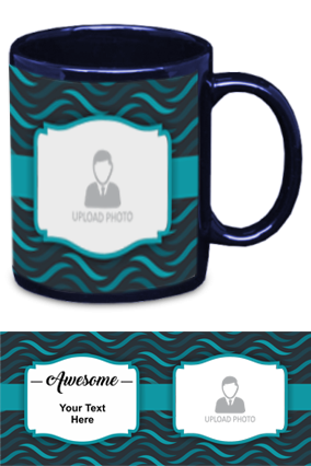 Awesome Personalized Designer Blue Patch Mug