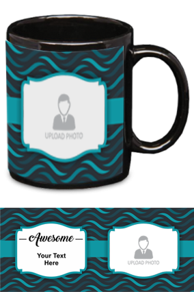 Awesome Personalized Designer Black Patch Mug