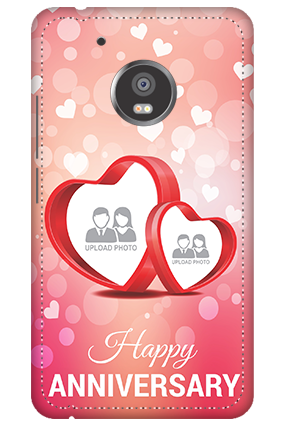 3D -  Moto G5 Floral Hearts Anniversary Mobile Cover