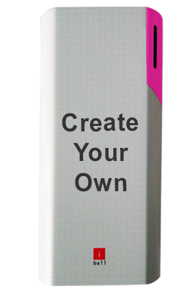 Create Your Own iBall Power Bank 10000 mAh - PB10017 (White + Pink)