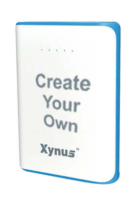 Create Your Own 10400mAh Xynus Power Bank Blue