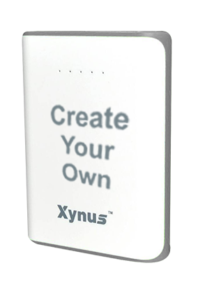 Create Your Own 10400mAh Xynus Power Bank Gray