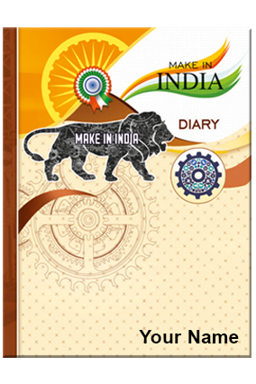 Personalized Make In India Diary 106