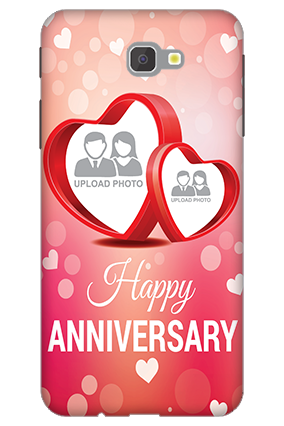 3D - Samsung Galaxy J7 Prime Floral Hearts Anniversary Mobile Cover
