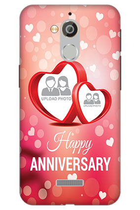 3D - Coolpad Note 5 Floral Hearts Anniversary Mobile Cover
