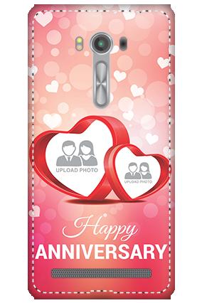 3D - Asus Zenfone 2 Laser ZE550KL Floral Hearts Anniversary Mobile Cover