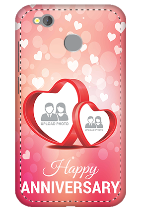 3D -  Redmi 4 Floral Hearts Anniversary Mobile Cover