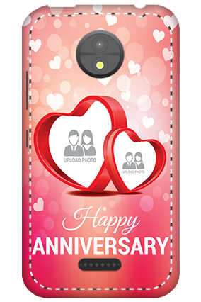 3D -  Motorola Moto C Floral Hearts Anniversary Mobile Cover