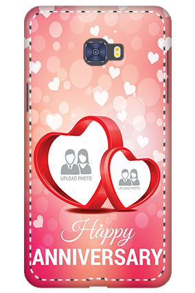 Personalized 3D-Samsung Galaxy C7 Pro Floral Hearts Anniversary Mobile Cover