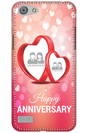 3D - Oppo A33  Floral Hearts Anniversary Mobile Cover