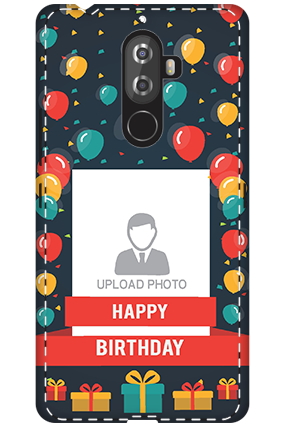 3D - Lenovo K8 Note Balloons Birthday Mobile Cover