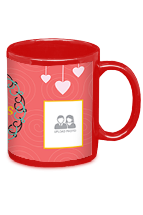 Dusky Red Mother's Day Red Patch Mug