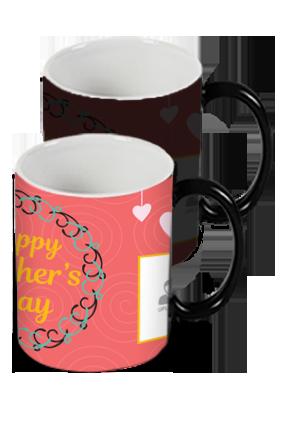 Dusky Red Mother's Day Black Magic Mug