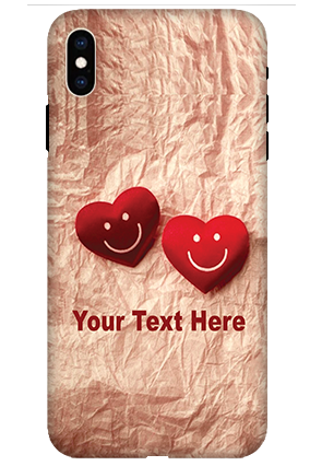 Apple iPhone XS Max White High Grade Plastic Smiley Heart Mobile Cover