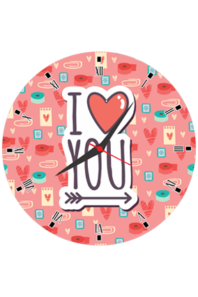 Cute and Lovely  Round Valentine Clock