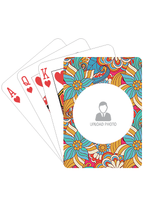 Decent Colorful Flowers Playing Cards