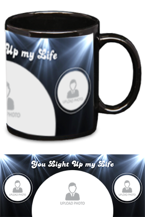 You Light Up My Life Printed Black Patch Mug