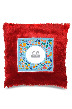 Soothing  Square Fur Cushion