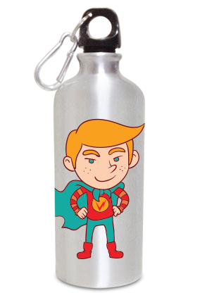 Big Boy 600ml Silver Sipper