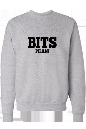BITS Black Printed Gray Sweatshirt
