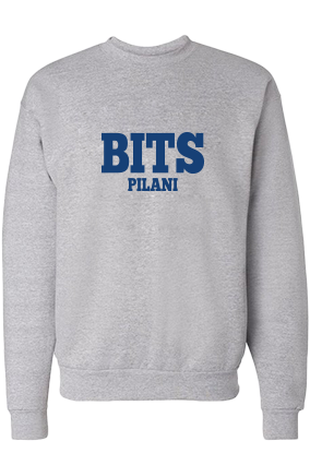 BITS Blue Print Gray Sweatshirt