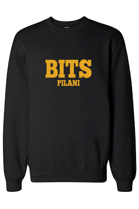 BITS Yellow  Print Black Sweatshirt