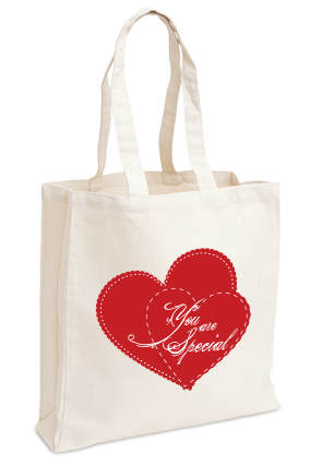 Customize Just Love Valentine Day Tote Bag