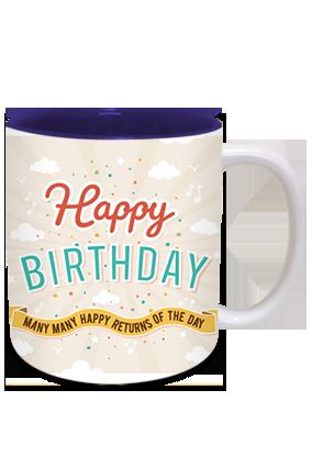 Customized Cool Inside Blue Mug