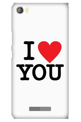 Customized Silicon - Lava Iris X8 I Love You Valentine's Day Mobile Cover