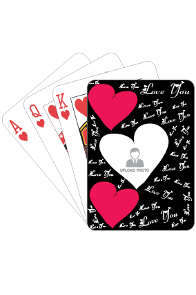 Personalized Love Struck playing Cards