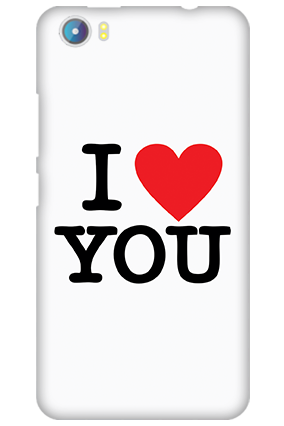 Silicon - Micromax Canvas Fire 4 A107 I Love You Valentine's Day Mobile Cover