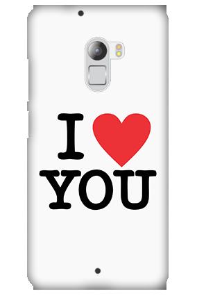 Silicon - Lenovo K4 Note I Love You Valentine's Day Mobile Cover