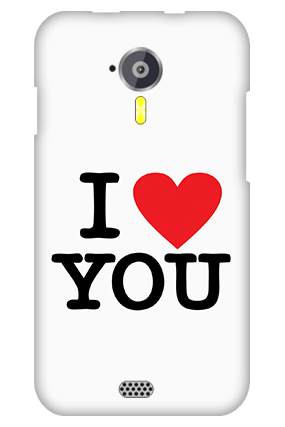 Custom Micromax Canvas A116 I Love You Valentine's Day Mobile Cover