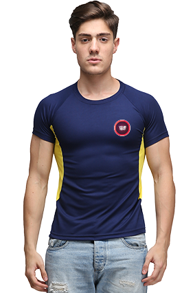 Effit Cool Navy and Yellow T-Shirt