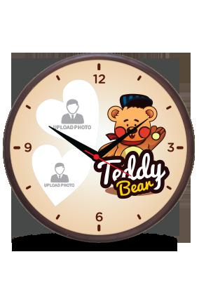 Teddy Bear Wooden Wall Clock