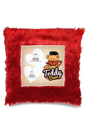 Teddy Bear Square Fur Cushion