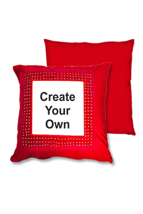 Create Your own Velvet Red Square Cushion