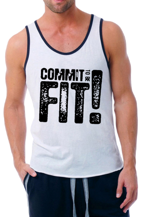 Commit Fit Poly Cotton Sleeveless Gym and Sportswear Tank Tops Sports Tshirt or Vests for Men