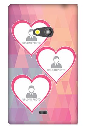 Nokia Lumia 625 3 Photos Heart Mobile Cover