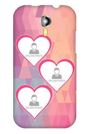 Micromax A 117 Pinkish Photos Heart Mobile Cover