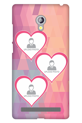 Asus Zenfone 6 Pinkish Photos Heart Mobile Cover