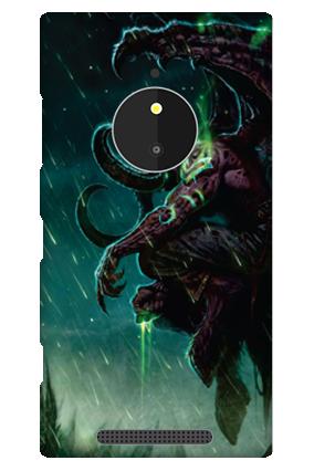 Nokia Lumia 830 Dark Moves Mobile Cover