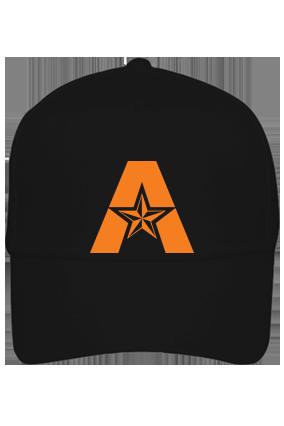 Alphabetic Black Cap with Name