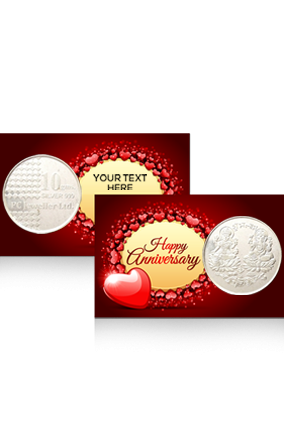 Anniversary Wishes Silver Coin