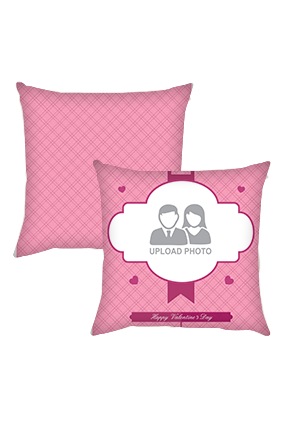 Light Pink Valentines Day Cushion Cover