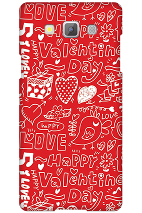 Customised Samsung Galaxy A5 2015 Happy Valentine's Day Mobile Cover